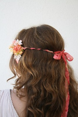 Brown Curly Hair with Headband